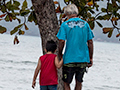 Grandfather With Little Boy, Ubatuba, Brazil