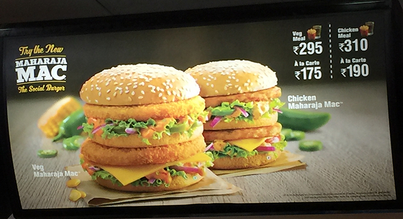 McDonald's With an Indian Flavor